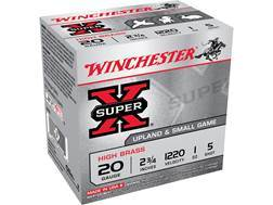 "Winchester Super-X High Brass Ammunition 20 Gauge 2-3/4"" 1 oz #5 Shot"