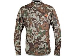First Lite Men's Halstead Tech Fleece 1/4 Zip Shirt Long Sleeve Synthetic Blend Fusion Camo Large 42-45