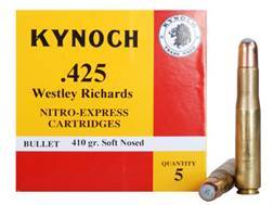 Kynoch Ammunition 425 Westley Richards 410 Grain Woodleigh Weldcore Soft Point Box of 5