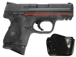 Crimson Trace Lasergrips Smith & Wesson M&P Compact Polymer Black with Gould & Goodrich Holster