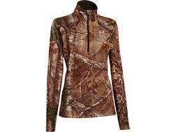 Under Armour Women's Performance 1/4 Zip Shirt Long Sleeve Polyester