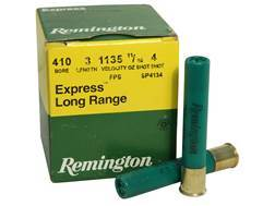 "Remington Express Long Range Ammunition 410 Bore 3"" 11/16 oz #4 Shot Box of 25"