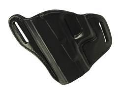 Bianchi 58 P.I. Belt Slide Holster Left Hand Glock 17, 19, 22, 23, 26, 27, 33, 34, 35 Leather Black