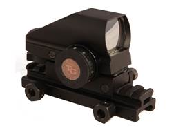 "TRUGLO Tru-Brite Reflex Red Dot Sight Red and Green 4-Pattern Reticle (2.5 MOA Dot, 5 MOA Dot, 2.5 MOA Circle Dot, 5 MOA Circle Dot) with Integral Weaver-Style Base with 1/2"" Riser Mount Matte"