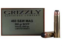 Grizzly Ammunition 460 S&W Magnum 300 Grain Hawk Bonded Core Jacketed Flat Point Box of 20