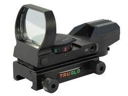 TRUGLO Reflex Red Dot Sight Red and Green 4-Pattern Reticle (15 MOA Peep, Crosshair, 3 MOA Circle Dot, 5 MOA Dot) with Integral Weaver-Style Base Matte