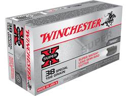 Winchester Super-X Ammunition 38 Special 158 Grain Lead Semi-Wadcutter Box of 50