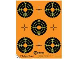 "Caldwell Orange Peel Targets 2"" Self-Adhesive Bullseye (5 Bulls Per Sheet) Package of 10"