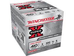 "Winchester Super-X High Brass Ammunition 410 Bore 3"" 3/4 oz #6 Shot"