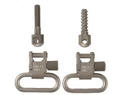 "Uncle Mike's Quick Detachable Machine Screw Type Sling Swivel Set 1"" Nickel Plated"