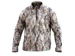 Natural Gear Men's Scent-Tek 1/4 Zip Performance Pullover Shirt Long Sleeve Polyester Natural Gear