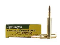 Remington Express Ammunition 280 Remington 140 Grain Core-Lokt Pointed Soft Point Box of 20