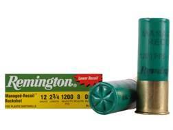 "Remington Managed-Recoil Express Ammunition 12 Gauge 2-3/4"" 00 Buckshot 8 Pellets Box of 5"