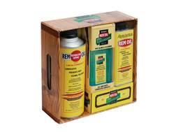 Remington Rem Oil Gun Oil 100th Aniversary 3 Bottle Kit with Wood Carrier
