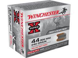 Winchester Super-X Ammunition 44 Remington Magnum 240 Grain Hollow Soft Point Box of 20