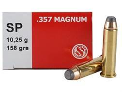Sellier & Bellot Ammunition 357 Magnum 158 Grain Jacketed Soft Point Box of 50