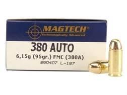 Magtech Sport Ammunition 380 ACP 95 Grain Full Metal Jacket