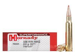 Hornady SUPERFORMANCE SST Ammunition 338 Winchester Magnum 200 Grain SST Box of 20