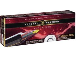 Federal Premium Vital-Shok Ammunition 270 Winchester Short Magnum (WSM) 130 Grain Nosler Ballistic Tip Box of 20