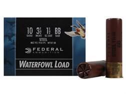 "Federal Speed-Shok Waterfowl Ammunition 10 Gauge 3-1/2"" 1-1/2 oz BB Non-Toxic Steel Shot"
