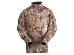 Kryptek Men's Valhalla Minimalist Shirt 1/4 Zip Long Sleeve Polyester Highlander Camo