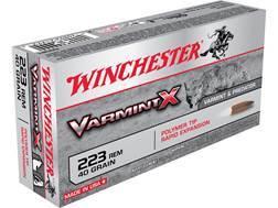 Winchester Varmint X Ammunition 223 Remington 40 Grain Polymer Tip