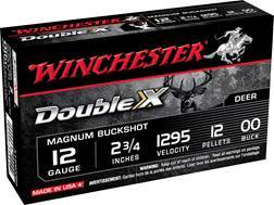 "Winchester Supreme Double X Magnum Ammunition 12 Gauge 2-3/4"" Buffered 00 Copper Plated Buckshot 12 Pellets"