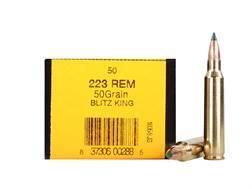HSM Ammunition 223 Remington 50 Grain Sierra BlitzKing Polymer Tip Boat Tail Box of 50