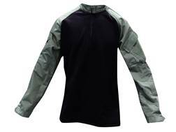 Tru-Spec 1/4 Zip Winter Combat Shirt Long Sleeve Polyester and Spandex Olive Drab/Black L