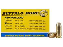 Buffalo Bore Ammunition 460 Rowland 230 Grain Jacketed Hollow Point Box of 20