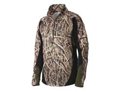 Drake Men's Tri-Tec Performance Base Layer Shirt Long Sleeve Polyester Mossy Oak Shadow Grass Blades Camo Large