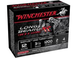 "Winchester Long Beard XR Turkey Ammunition 12 Gauge 3-1/2"" 2 oz #4 Copper Plated Shot Box of 10"