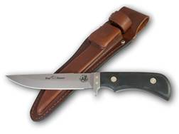 "Knives of Alaska Xtreme Boar Hunter Fixed Blade Hunting Knife 5.5"" Drop Point D2 Steel Blade Suregrip Handle Black"