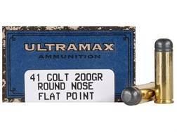 Ultramax Cowboy Action Ammunition 41 Long Colt 200 Grain Lead Flat Nose Box of 50