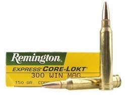 Remington Express Ammunition 300 Winchester Magnum 150 Grain Core-Lokt Pointed Soft Point Box of 20