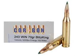 Cor-Bon Self-Defense Ammunition 243 Winchester 70 Grain Sierra BlitzKing Polymer Tip Box of 20