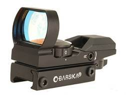 Barska Reflex Red Dot Sight 4-Pattern Reticle (10 MOA Circle with 2 MOA Dot, Crosshair, 10 MOA Dot,