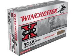 Winchester Super-X Ammunition 30-06 Springfield 180 Grain Power-Point