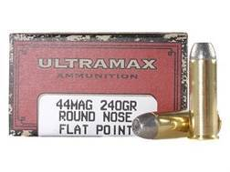 Ultramax Cowboy Action Ammunition 44 Remington Magnum 240 Grain Lead Flat Nose Box of 50