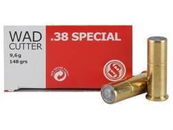 Sellier & Bellot Ammunition 38 Special 148 Grain Hollow Base Wadcutter Box of 50