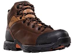"Danner Corvallis 5"" Waterproof Uninsulated Non-Metallic Toe Work Boots Leather Brown Men's 10.5 D"