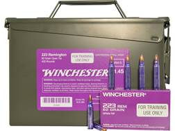 Winchester LE Training Ammunition 223 Remington 62 Grain Open Tip Ammo Can of 420 (21 Boxes of 20)