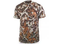 First Lite Men's Llano Crew Shirt Short Sleeve Merino Wool Fusion Camo Large 42-45