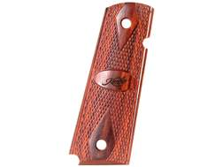 Kimber Double Diamond Grips 1911 Government, Commander Amidextrous Safety Cut Rosewood with Kimber Logo