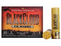 "Federal Premium Black Cloud Ammunition 20 Gauge 3"" 1 oz #2 Non-Toxic FlightStopper Steel Shot"