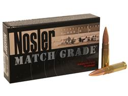 Nosler Match Grade Ammunition 300 AAC Blackout 220 Grain Custom Competition Hollow Point Boat Tail Subsonic Box of 20