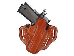 DeSantis Speed Scabbard Belt Holster Right Hand Glock 29. 30, 39 Leather Tan