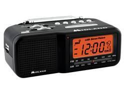 Midland WR-11 AM/FM Clock and Weather Alert Radio