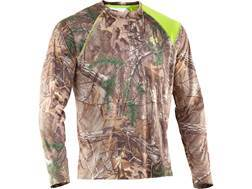 Under Armour Men's EVO Scent Control HeatGear T-Shirt Long Sleeve Polyester Realtree Xtra Camo Large 42-44