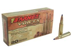 Barnes VOR-TX Ammunition 308 Winchester 150 Grain Tipped Triple-Shock X Bullet Boat Tail Lead-Free Box of 20